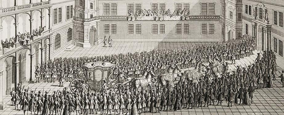 Ankunft Maria Josephas in Dresden am 2. September 1719 (Ausschnitt)