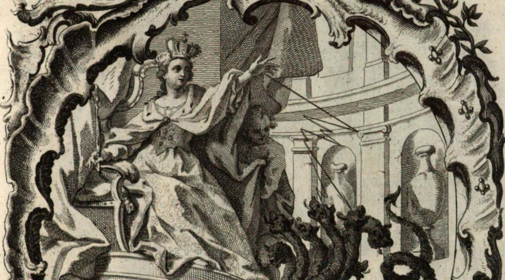 "Abbildung von Maria Amalia als Kaiserin aus ""Funebris Memoriae"", Ausschnitt"